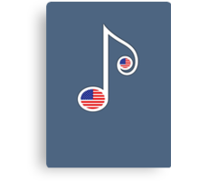 USA Music Note Canvas Print