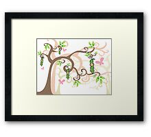 Magic Trees and Baby Girls in a Pod Framed Print