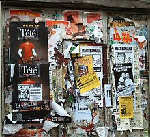 Fly posting in France by Jackie Wilson