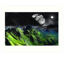 Green Hills of Home Art Print