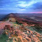Last Light on the Malvern Hills by Angie Latham