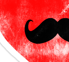 I Love Moustache.  Sticker