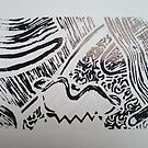Lino Print 01 by Dani Louise Sharlot