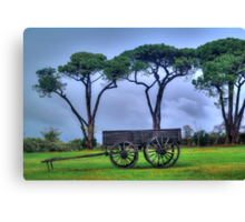 Old Dray. Canvas Print