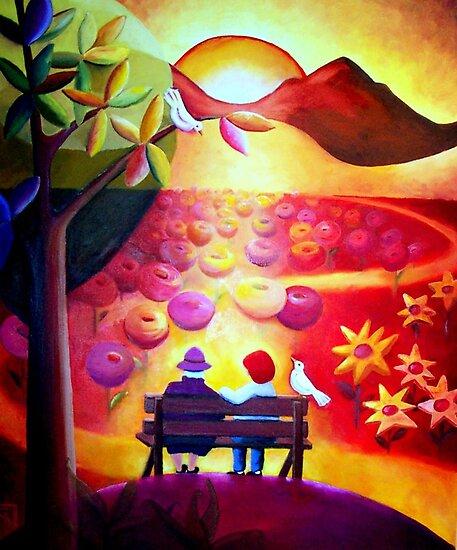 The Garden Bench by Gaby Schrott