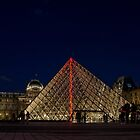 Louvre at night by emmelined