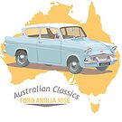 Australian Classic cars - Ford Anglia by contourcreative