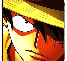 Monkey D. Luffy (color) by amberisamber