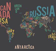 Typographic World Map by casandraswenson