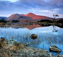 Sunrise over Blackmount by Angie Latham