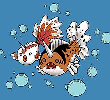 Goldeen and Seaking by Brittney Emory