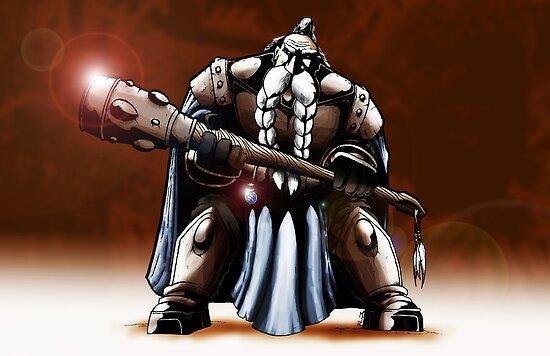 Dwarf Warrior by seventhfury