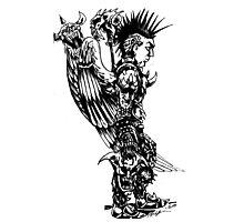 demon slayer angel Photographic Print