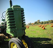 Green John Deere Tractor on The Country Farm Photograph by Adri Turner