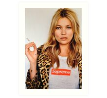 Kate Moss for Supreme Media Cases, Pillows, and More. Art Print