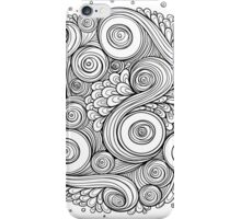 White and black doodle mandala  iPhone Case/Skin