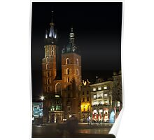 St Mary's Church, Market Square, Cracow Poster