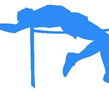 Blue High Jump Silhouette by kwg2200