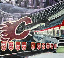 Calgary Flames- The Saddledome by Christopher Ripley