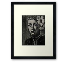 Billie Holiday - low ink Framed Print