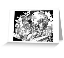 Of Man and Beast Greeting Card