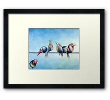 Finches On Parade - Excerpt One Framed Print