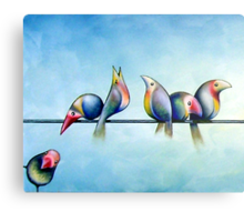 Finches On Parade - Excerpt One Metal Print