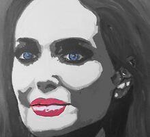 Portrait  of a tough woman (black and white by artbyengels