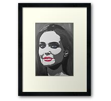 Portrait  of a tough woman (black and white Framed Print