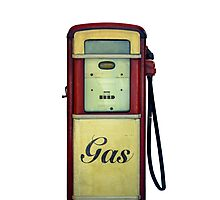 Classic Gas Pump Photographic Print