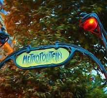 Impressions of Paris - Metropolitain by Georgia Mizuleva