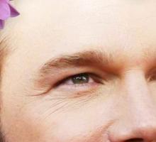 Chris Pratt Flower Crown Sticker