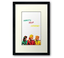 What's Your Damage? - Heathers the Musical Framed Print