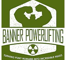 The Incredible Hulk - Banner Powerlifting White Photographic Print