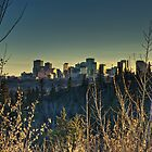 Edmonton Skyline in Spring(HDR) by Evan Adnams