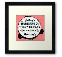 Happy Hour (Color) Framed Print