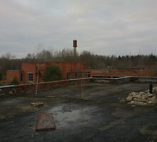 Abandoned factory in Lithuania, roftop view by Generator