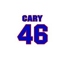National baseball player Chuck Cary jersey 46 Photographic Print