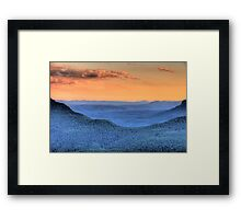Blue Mountains Fantasy - Blue Mountains HDR Series Framed Print