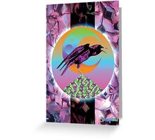 Crystal Crow Greeting Card