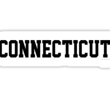 Connecticut Jersey Black Sticker