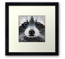Winter Sky Eyes Framed Print