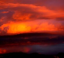 Sunset in a storm by Katrina Condliffe