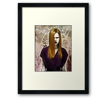 Stung By A Single Bee Through The Looking Glass Framed Print