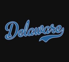 Delaware Script Light Blue Kids Clothes