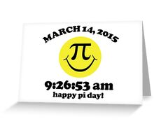 Funny Limited Edition Smiley Face Happy Pi Day 2015 T-Shirt and Gifts Greeting Card
