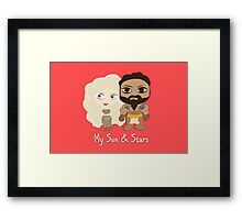 Game of Thrones Valentines: My Sun and Stars Framed Print