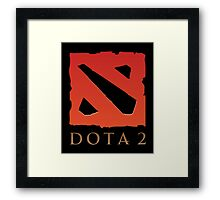DOTA 2 Logo Framed Print
