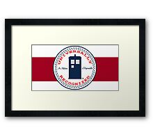 Doctor Who - Converse Logo with Quote Framed Print