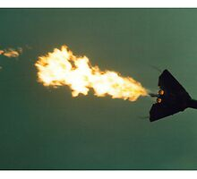 F111 Dump and Burn  by Richard  Willett